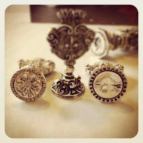 Silver Plated Italian Designs Wax Seal Stamp-LetterSeals.com