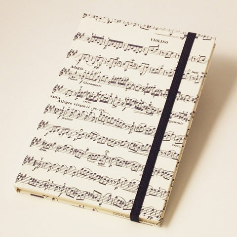 Vivaldi Musical Score | Rossi 1931 Hardcover Notebook - Letterpress Paper Cover