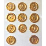 Numbers 1-10+ Wax Seal Stamps<br>Interchangeable Set<br>Choice of 3 Fonts-LetterSeals.com