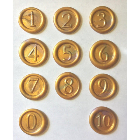 Numbers 1-10+ Wax Seal Stamps | Interchangeable Set - Choice of 3 Fonts-LetterSeals.com