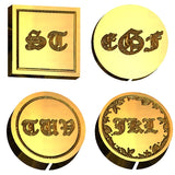 Old English Monogram Wax Seal Stamp LetterSeals.com
