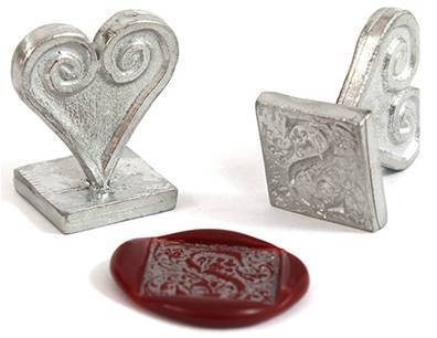 "ornate 1"" square initial wax seal stamp letterseals.com"