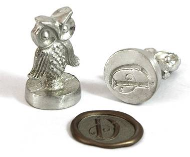 "Owl 3/4"" Initial Wax Seal Stamp"