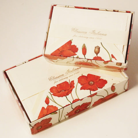 Poppy Note Cards | Rossi 1931 Italian Stationery