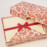 Red Florentine Pattern | Rossi 1931 Italian Stationery-LetterSeals.com