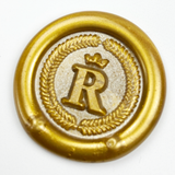 Regal Crowned Initial Wax Seal Stamp - Select Size, Handle & Trim
