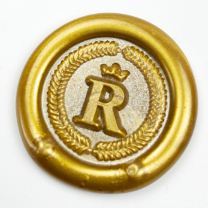 regal crown initial wax seal stamp letterseals.com sealing wax colors