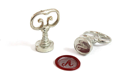 Scroll Handle Numbered Wax Seal Stamps - two font options