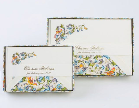 Small & Large Florentine Note Cards | 26 Pattern Choices | Rossi 1931 Italian Stationery