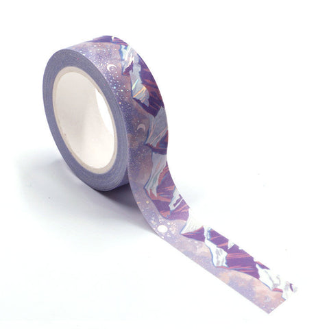 Holographic Foil Snowy Mountains Washi Tape