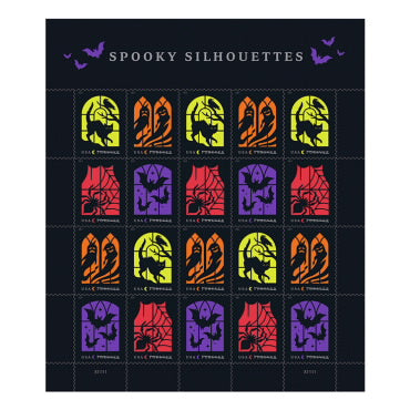 Spooky Silhouettes Halloween Forever 55¢ Postage Stamp
