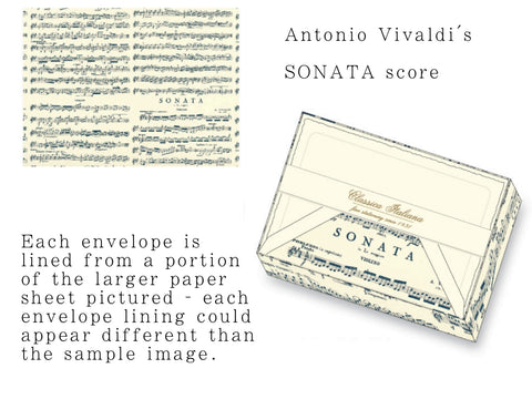 Vivaldi Sonata Note Cards | Rossi 1931 Italian Stationery