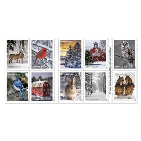 Winter Scenes Forever 1st Class Postage Stamp