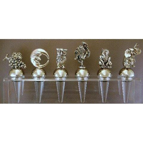 Silver Plated Champagne Stopper-LetterSeals.com