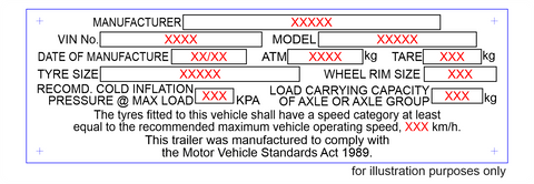new trailer compliance plate