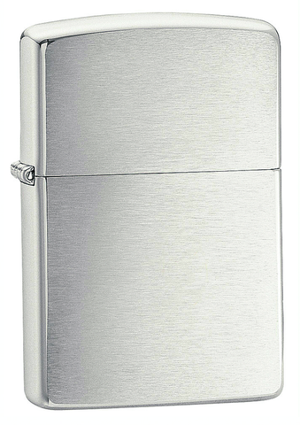 Engravable | Armor Brushed Chrome Zippo Lighter.