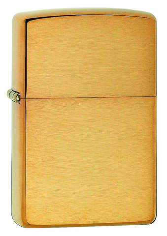 Engravable | Armor Brushed Brass Zippo Lighter.