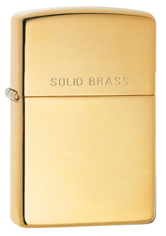 "Engravable | ""Solid Brass"" High Polish Zippo Lighter.Engravable"