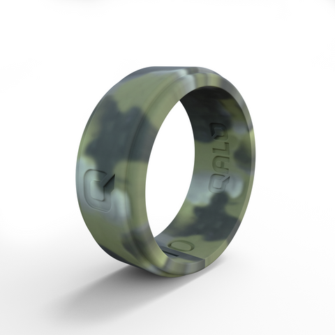 Men's Brushed Camo Q2X Silicone Ring | Step Edge