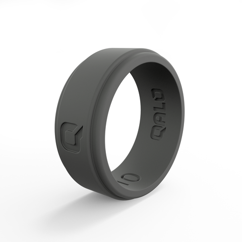 Men's Charcoal Grey Q2X Silicone Ring | Step Edge