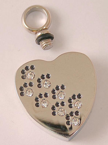 Engraved | Paws to Heaven Heart Pet Cremation pendant