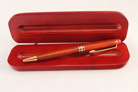 Rosewood Wooden pen and box. Engraving included.