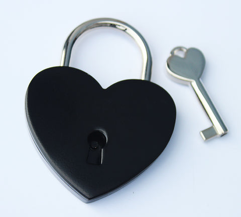 Black Love Lock. Shipping & Engraving included.