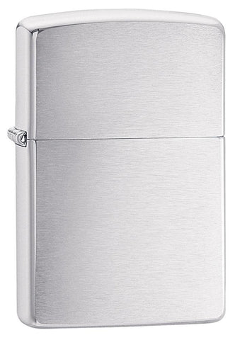 Engravable | Brushed Chrome Zippo Lighter.