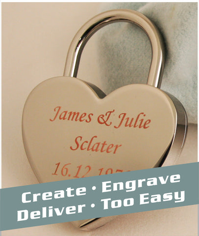 chrome love lock single with normal neck