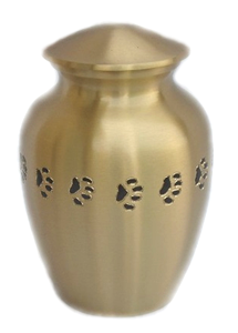 Large (500ml) Pet Urn Bronze Pet Urn with Paws. Engraving included.