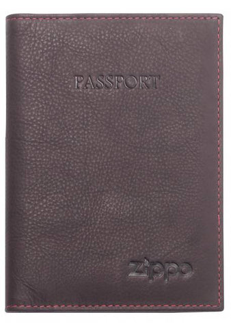 Engravable | Brown Leather Passport holder by ZippoEngravable