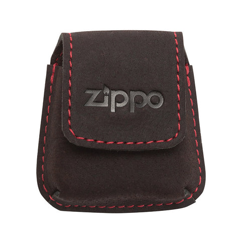 Zippo Brown Leather Pouch with loop.