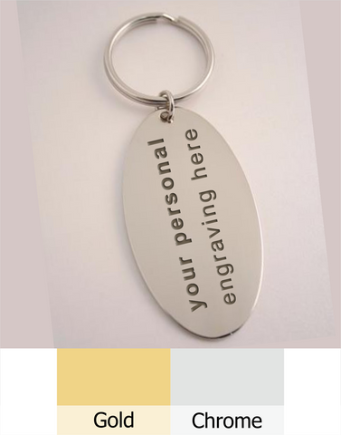 Oval Keyring. Free shipping & Engraving.