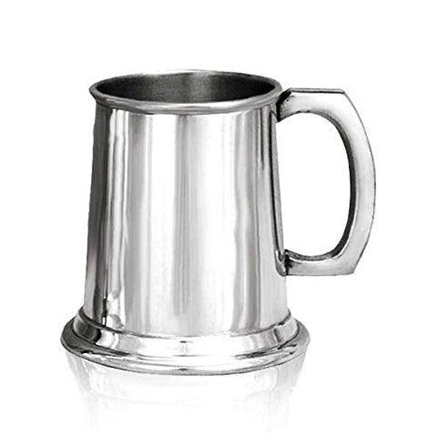 Personalised Pewter Tankard. Plain