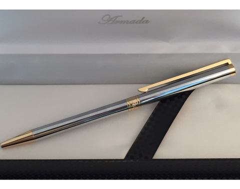 Armada Slimline Pen - Two Tone. Engraving included.