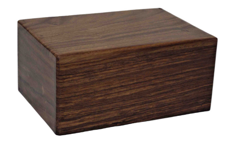 Engraved | Extra Small (150ml) wooden Urn box.