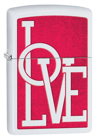 Engravable | Zippo Red & White Love