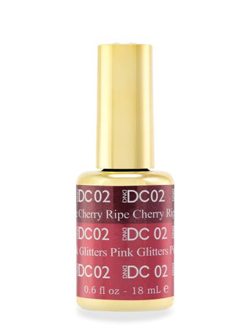 DND DC MOOD GEL - 02 RIPE CHERRY TO PINK GLITTERS