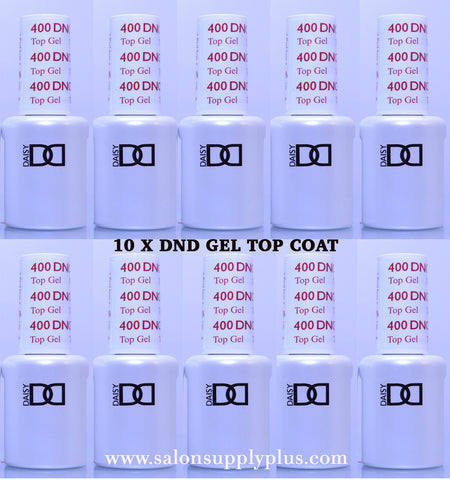 10 x DND Gel Top Coat .5 fl oz