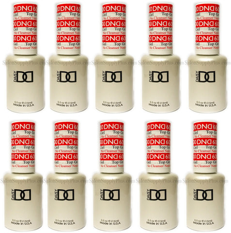 10 Pack DND Gel Top Coat #600 .5 fl oz