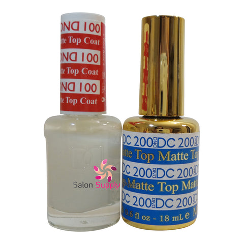 DND DC Matte Top Coat #100 #200 (Gel & Regular) .6 fl oz