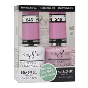 CRE8TION MATCHING COLOR GEL & NAIL LACQUER - 246 BRAIDS AND BOWS
