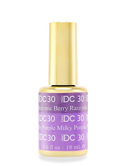 DND DC MOOD GEL - 30 RAZZ-MIC BERRY TO MILKY PURPLE - C0088
