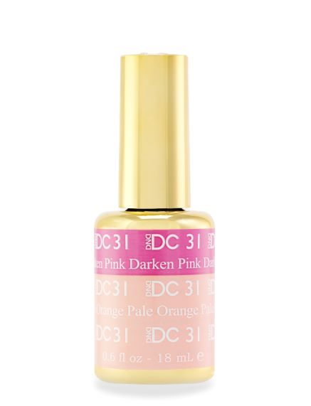 DND DC MOOD GEL - 31 DARKEN PINK TO PALE ORANGE