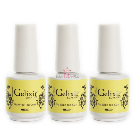 Gelixir - 3 Pack - No Wipe Gel Top Coat