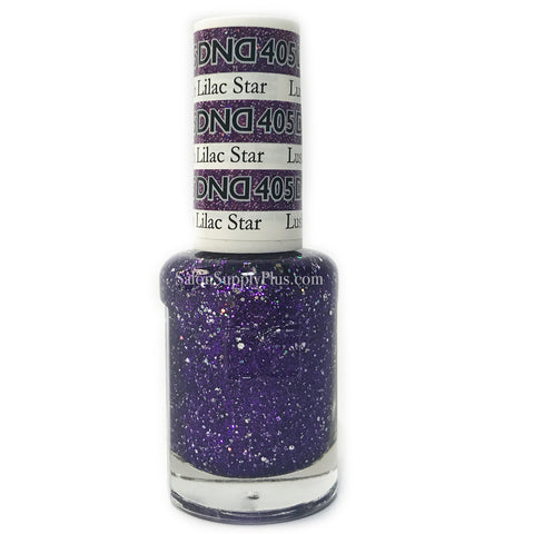 405 - DND Lacquer - Lush Lilac Star