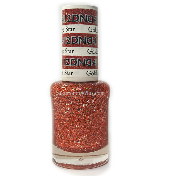 412 - DND Lacquer - Golden Orange Star