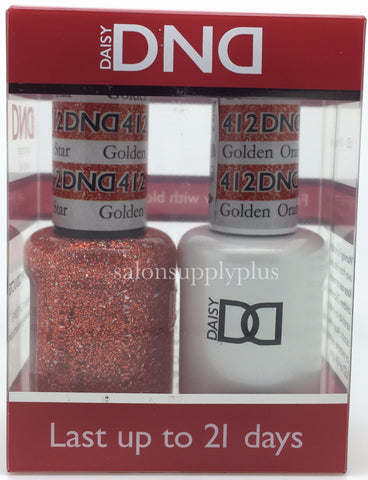 412 - DND Duo Gel- Golden Orange