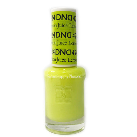 424 - DND Lacquer - Lemon Juice