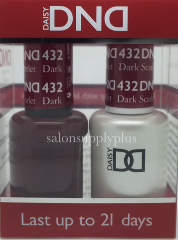 432 - DND Duo Gel - Dark Scarlet